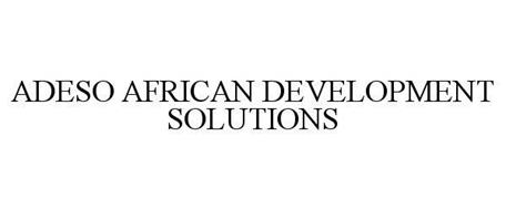 ADESO AFRICAN DEVELOPMENT SOLUTIONS