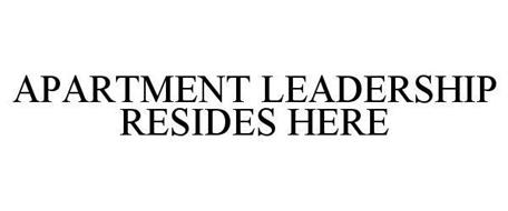 APARTMENT LEADERSHIP RESIDES HERE
