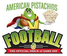 AMERICAN PISTACHIOS FOOTBALL THE OFFICIAL SNACK OF GAME DAY