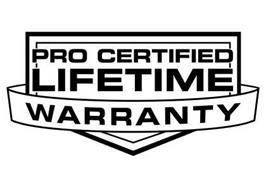Cna National Warranty >> Pro Certified Lifetime Warranty Trademark Of Cna National Warranty