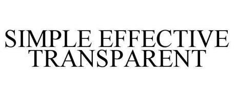 SIMPLE EFFECTIVE TRANSPARENT