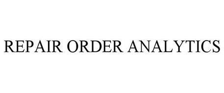 REPAIR ORDER ANALYTICS