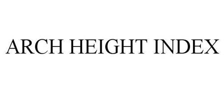 ARCH HEIGHT INDEX