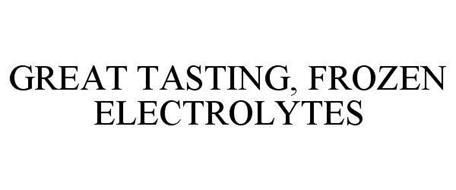 GREAT TASTING, FROZEN ELECTROLYTES