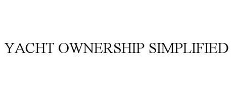 YACHT OWNERSHIP SIMPLIFIED