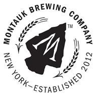 M MONTAUK BREWING COMPANY NEW YORK - ESTABLISHED 2012