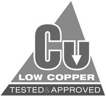 CU LOW COPPER TESTED & APPROVED