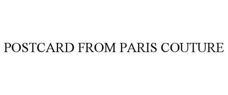 POSTCARD FROM PARIS COUTURE