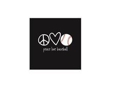 PEACE LOVE BASEBALL