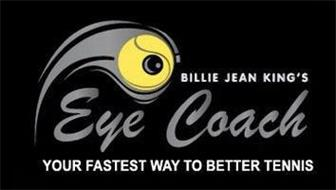 BILLIE JEAN KING'S EYE COACH YOUR FASTEST WAY TO BETTER TENNIS