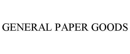 GENERAL PAPER GOODS