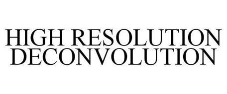 HIGH RESOLUTION DECONVOLUTION
