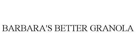 BARBARA'S BETTER GRANOLA