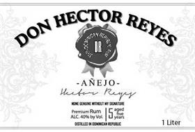 DON HECTOR REYES 100% DOMINICAN REPUBLIC RUM DR -AÑEJO- HECTOR REYES NONE GENUINE WITHOUT MY SIGNATURE