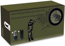 MADE IN ITALY; PALLA SPECIALE CERVO PER CACCIA E TIRO; SPECIAL SLUG CERVO FOR HUNTING AND SHOOTING