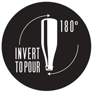 INVERT TO POUR 180°