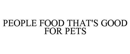 PEOPLE FOOD THAT'S GOOD FOR PETS