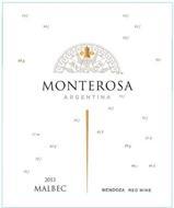 NW NE MONTEROSA ARGENTINA 2013 MALBEC MENDOZA RED WINE 54F 68G 27M 75F 45F 09G 98C 99D