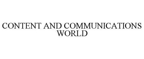 CONTENT AND COMMUNICATIONS WORLD