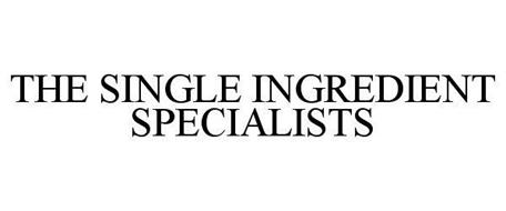 THE SINGLE INGREDIENT SPECIALISTS