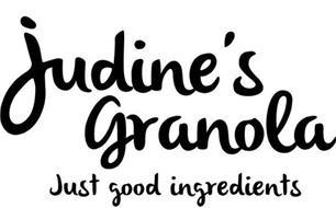 JUDINE'S GRANOLA JUST GOOD INGREDIENTS