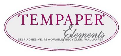 TEMPAPER ELEMENTS SELF ADHESIVE. REMOVABLE RECYCLED. WALLPAPER.