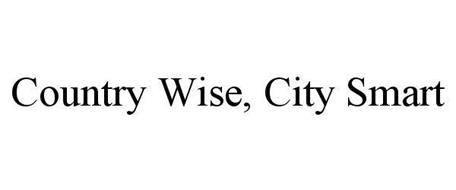 COUNTRY WISE, CITY SMART