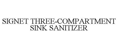 SIGNET THREE-COMPARTMENT SINK SANITIZER