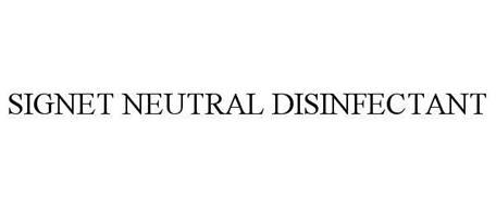 SIGNET NEUTRAL DISINFECTANT