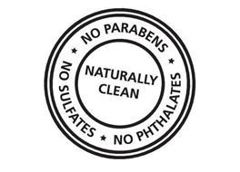 NATURALLY CLEAN NO PARABENS NO SULFATES NO PHTHALATES