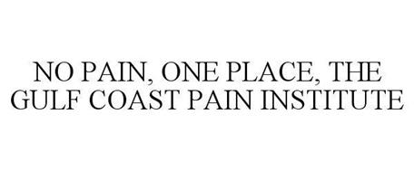 NO PAIN. ONE PLACE. THE GULF COAST PAIN INSTITUTE.