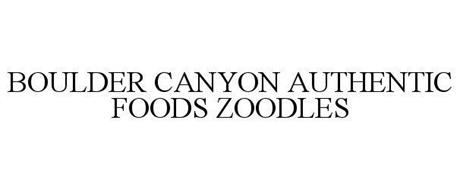 BOULDER CANYON AUTHENTIC FOODS ZOODLES