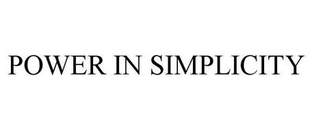 POWER IN SIMPLICITY