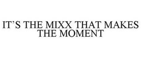 IT'S THE MIXX THAT MAKES THE MOMENT