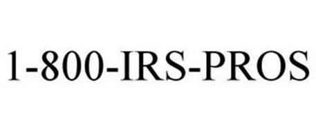 1-800-IRS-PROS