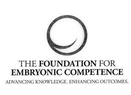 THE FOUNDATION FOR EMBRYONIC COMPETENCE ADVANCING KNOWLEDGE. ENHANCING OUTCOMES.