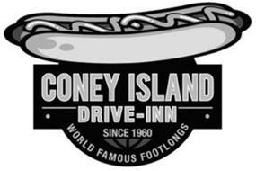 CONEY ISLAND DRIVE-INN SINCE 1960 WORLD FAMOUS FOOTLONGS