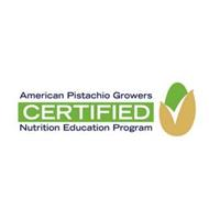 AMERICAN PISTACHIO GROWERS CERTIFIED NUTRITION EDUCATION PROGRAM