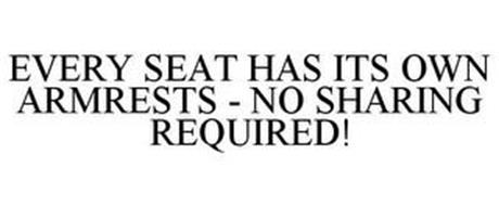 EVERY SEAT HAS ITS OWN ARMRESTS - NO SHARING REQUIRED!