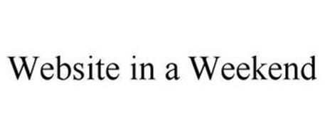 WEBSITE IN A WEEKEND