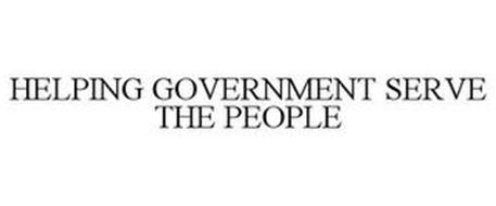 HELPING GOVERNMENT SERVE THE PEOPLE