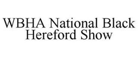 WBHA NATIONAL BLACK HEREFORD SHOW