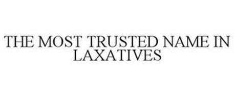 THE MOST TRUSTED NAME IN LAXATIVES