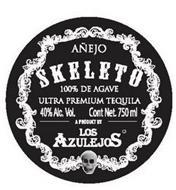 AÑEJO SKELETO 100% DE AGAVE 40% ALC. VOL. CONT NET. 750 ML A PRODUCT BY LOS AZULEJOS