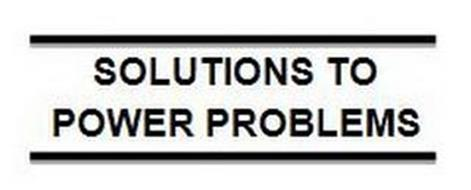 SOLUTIONS TO POWER PROBLEMS