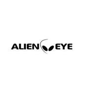 ALIEN EYE WITH A LOGO OF