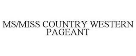 MS/MISS COUNTRY WESTERN PAGEANT