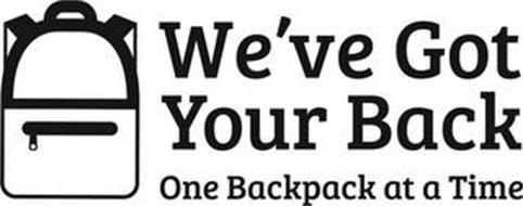 WE'VE GOT YOUR BACK ONE BACKPACK AT A TIME