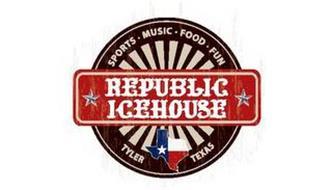 REPUBLIC ICEHOUSE SPORTS · MUSIC · FOOD· FUN TYLER TEXAS