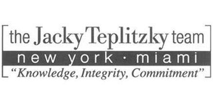 THE JACKY TEPLITZKY TEAM NEW YORK· MIAMI